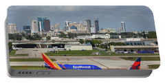 Portable Battery Charger featuring the photograph Planes By Fort Lauderdale by Dart Humeston