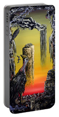 Portable Battery Charger featuring the painting Planet Of Anomalies by Ryan Demaree