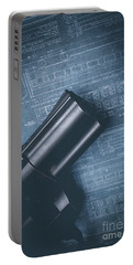 Portable Battery Charger featuring the photograph Planning The Heist by Edward Fielding
