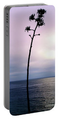 Portable Battery Charger featuring the photograph Plant Silhouette Over Ocean by Mariola Bitner