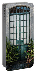 Portable Battery Charger featuring the photograph Plants In The Doorway by Marco Oliveira