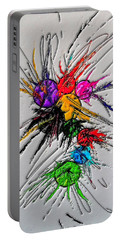 Plash Original Paint By Nico Bielow Portable Battery Charger by Nico Bielow