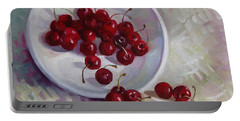 Plate With Cherries Portable Battery Charger