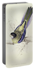 Platycercus Brownii, Or Browns Parakeet Portable Battery Charger by Edward Lear