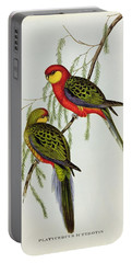 Platycercus Icterotis Portable Battery Charger by John Gould
