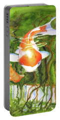 Play Koi With Me Portable Battery Charger by Bonnie Rinier
