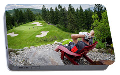 Portable Battery Charger featuring the photograph Play Through Or Enjoy The View by Darcy Michaelchuk