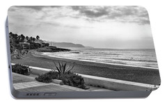 Playa Burriana, Nerja Portable Battery Charger by John Edwards