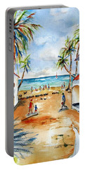 Playa Del Carmen Portable Battery Charger by Carlin Blahnik