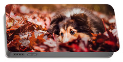 Playful Autumn Dog Portable Battery Charger