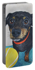 Playful Dachshund Portable Battery Charger