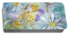 Portable Battery Charger featuring the painting Playfulness by Jasna Dragun
