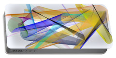 Portable Battery Charger featuring the digital art Playground by Rafael Salazar
