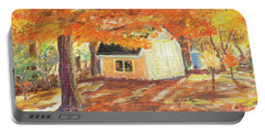 Playhouse In Autumn Portable Battery Charger