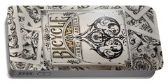 Playing Cards Portable Battery Charger by Sheila Mcdonald
