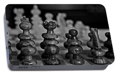 Portable Battery Charger featuring the photograph Playing Chess 2 by Cendrine Marrouat