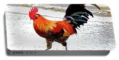 Playing Chicken Portable Battery Charger by Charles Shoup