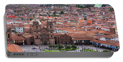Portable Battery Charger featuring the photograph Plaza De Armas, Cusco, Peru by Aidan Moran