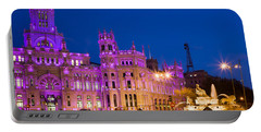 Plaza De Cibeles In Madrid Portable Battery Charger