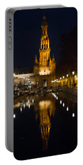 Plaza De Espana At Night - Seville 6 Portable Battery Charger