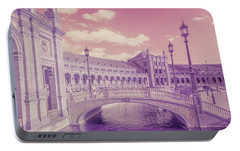Portable Battery Charger featuring the photograph Plaza De Espana. Dreamy by Jenny Rainbow