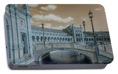 Portable Battery Charger featuring the photograph Plaza De Espana Vintage by Jenny Rainbow