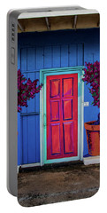 Portable Battery Charger featuring the photograph Please Use Other Door by Roger Mullenhour