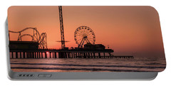 Pleasure Pier At Sunrise Portable Battery Charger