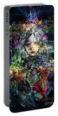 Pleiadian Bird Tribe Priestess Portable Battery Charger