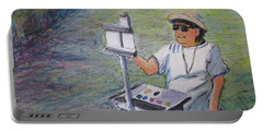 Plein-air Painter Bj Portable Battery Charger by Gretchen Allen