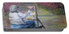 Plein-air Painter Lady Portable Battery Charger by Gretchen Allen