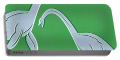 Plesiosaurus Portable Battery Charger by Linda Woods