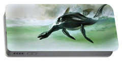 Plesiosaurus Portable Battery Charger by William Francis Phillipps