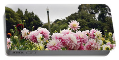 Plethora Of Dahlias Portable Battery Charger