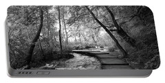 Plitvice In Black And White Portable Battery Charger