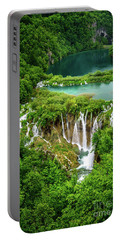 Plitvice Lakes National Park - A Heavenly Crystal Clear Waterfall Vista, Croatia Portable Battery Charger