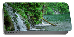 Plitvice Lakes National Park, Croatia - The Intersection Of Upper And Lower Lakes Portable Battery Charger