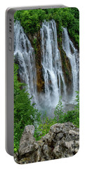 Plitvice Lakes Waterfall - A Balkan Wonder In Croatia Portable Battery Charger