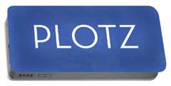 Plotz- Art By Linda Woods Portable Battery Charger by Linda Woods