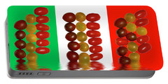 Plum Cherry Tomatoes Portable Battery Charger by David French