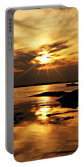 Plum Cove Beach Sunset E Portable Battery Charger