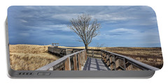 Plum Island Walkway Portable Battery Charger by Tricia Marchlik