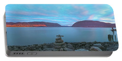 Plum Point Sunset Panorama Portable Battery Charger by Angelo Marcialis