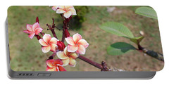 Portable Battery Charger featuring the photograph Plumeria Flowers by Jingjits Photography