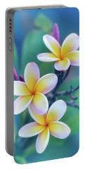 Plumerias In Pastel Portable Battery Charger