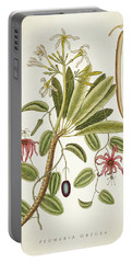 Plumeria Obtusa Botantical Print Portable Battery Charger