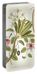 Plumeria Obtusa Botantical Print Portable Battery Charger