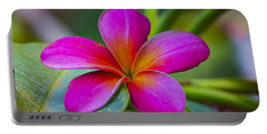 Plumeria On Leaf Portable Battery Charger