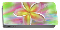 Plumeria Paradise Portable Battery Charger by Dani Abbott