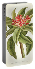 Plumeria Rubra Botanical Print Portable Battery Charger
